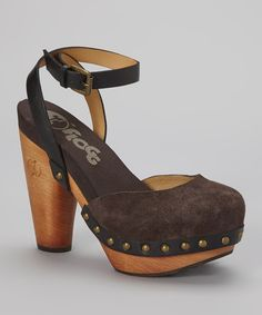 Look at this FLOGG Chocolate & Black Darcie Suede Sandal on #zulily today!