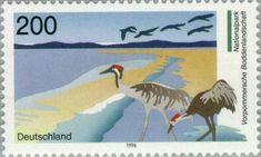 German Stamps, Postage Stamps, Crane, Westerns, Germany, Birds, Animals, Federal, Stamps
