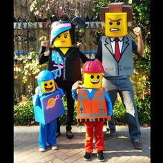 Lego Movie Family theme Halloween costumes! President Business, Wyldstyle…