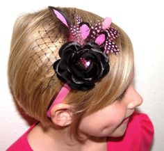 Your place to buy and sell all things handmade Feather Headband, Diy Headband, Fascinators, Headpieces, Bow Hair Clips, Hair Bows, Bow Accessories, Head Bands, Black Feathers