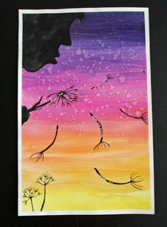 Lovely! Dandelion Poetry & Art Painting Project. Great fit for upper elementary and middle school. From that artist woman.