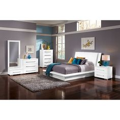 Newcastle Bedroom 5 Pc. King Bedroom | Furniture.com | Beds ...