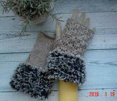 f042e7da81d00 彡キャットヤーン&ウール毛糸と透かし編みの指出しニット手袋キャット