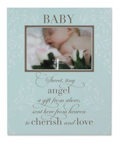 Take a look at this Blue 'Baby' 4'' x 6'' Plaque Picture Frame by Lawrence Frames on #zulily today!