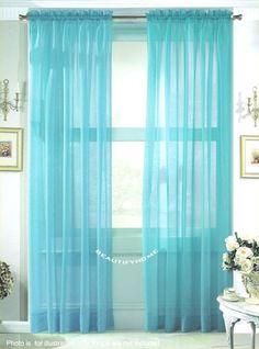 Detalhes sobre pattern porta cortina borboleta janela for Cortinas azul turquesa
