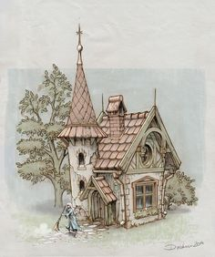 House drawing illustration fairy tales 32 new Ideas House Sketch, House Drawing, Castle Drawing, Fantasy House, Fantasy Art, Art Et Illustration, Illustrations, Botanical Illustration, Building Illustration