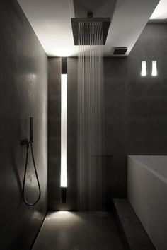 #bathroom #shower #lighting #dark #wall #interior #design #home #living selected by #cuuluu