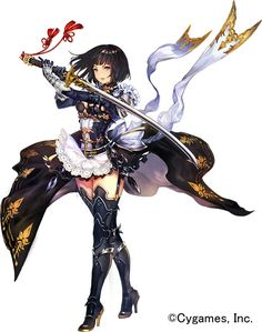 Anime girl with sword Female Character Design, Character Design Inspiration, Game Character, Character Concept, Character Design References, Concept Art, Girls Characters, Manga Characters, Fantasy Characters
