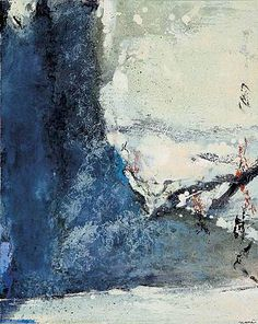 Zao Wou-Ki based in Paris since 1947 is widely considered as one of the most significant Chinese artists of the Abstract Landscape, Landscape Paintings, Abstract Art, Abstract Paintings, Chinese Painting, Chinese Art, Modern Art, Contemporary Art, Art Asiatique