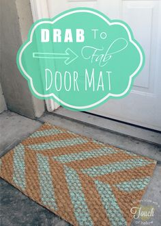 Stenciling a doormat is easy using the Herringbone Stencil from Cutting Edge Stencils. http://www.cuttingedgestencils.com/herringbone-stencil-pattern.html