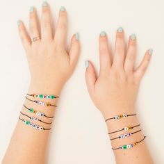 Alphabet Bridesmaids Friendship Bracelets