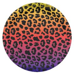 Shop Rainbow Colors Fantasy Leopard Print Pattern Paper Plate created by LarkDesigns. Pink Leopard Print, Party Tableware, Diy Nails, Paper Plates, Pattern Paper, Rainbow Colors, Biodegradable Products, Print Patterns, Custom Design
