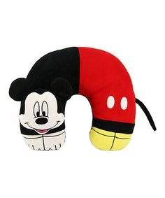 Look what I found on #zulily! Mickey Mouse 3-D Character Neck #disney Pillow #zulilyfinds