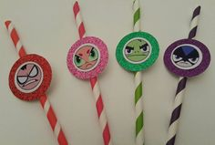 12 Teen Titans Birthday Paper Straws Party by caliknowshowtoparty