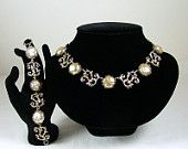 NETTIE ROSENSTEIN Necklace and Bracelet Set Sterling Silver and Coin Pearls
