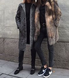 lacooletchic blog fur coat outfit