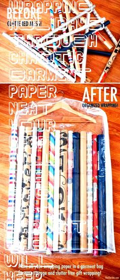 #wrapping #holidays #through #chaotic #garment #paper #neat #your #keep #will #the #bag #aA garment bag will keep your wrapping paper neat through the chaotic holidays. -  -A garment bag will keep your wrapping paper neat through the chaotic holidays. -  -  Gain more space in your closet for storage and organizing with these simple tips and tricks.  DIY Organization ideas for Christmas wrapping paper. I LOVE that metal trash can idea!!!  Money Envelope System Zippered Pockets Dave Ramsey ... Organization Ideas, Organizing, Money Envelope System, Money Envelopes, Dave Ramsey, Christmas Wrapping, Free Gifts, Gain, Wraps