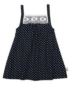 Look at this #zulilyfind! Midnight Star Crochet Organic Dress - Infant, Toddler & Girls by Burt's Bees Baby #zulilyfinds