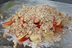 foil packed Apple Crisp - throw these on the grill at your next BBQ
