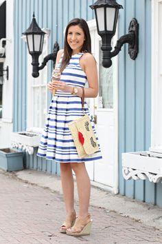 STEPHANIE STERJOVSKI : Blue and white stripes