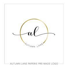 Premade Logo Design Watercolor Flower Logo by AutumnLanePaperie 2 Logo, Name Logo, Logo Branding, Branding Design, Brand Identity, Design Logos, Branding Ideas, Corporate Branding, Business Branding