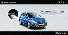 Rear spoiler for a sporty and stylish look! Accessorize your S-Cross only with genuine NEXA accessories at www.nexaexperience.com