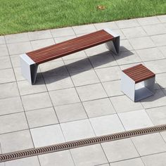 Public bench / contemporary / sheet steel / wooden - RADIUM by David Karásek & Radek Hegmon - mmcité 1 a.s.