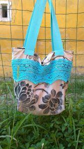 A grey turqoise tote bag Big Men, Haberdashery, Told You So, Tote Bag, Nice, Grey, Fabric, Crafts, Bags