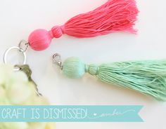 Trade & Made Blogger Challenge: Easy Tassel Charms - Find & Craft