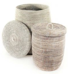Discounted as a pair! These woven baskets are great for laundry and can be used as his and hers.