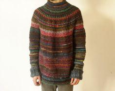 Handmade Icelandic style oversized sweater by TASSSHA on Etsy