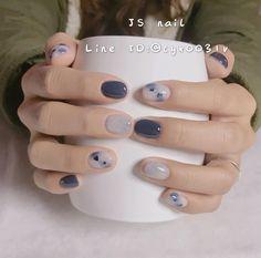 พี่จีคือที่สุด ♡ ↪นกเอฟวรี่ติงแร้ว on in 2020 Soft Nails, Simple Nails, Stylish Nails, Trendy Nails, Cute Acrylic Nails, Cute Nails, Asian Nails, Beauty Hacks Nails, Korean Nail Art