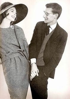 Suzy Parker and Yves Saint Laurent, photo by Richard Avedon for Harper's