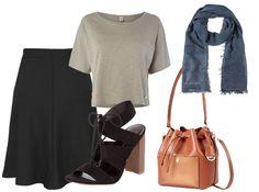 Entspanntes Outfit für den Alltag, dass sie Beine länger macht und die Hüften kaschiert. #plussize