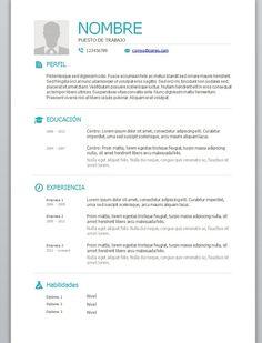 Modelos Y Plantillas De Curriculum Vitae En Word Modelo De