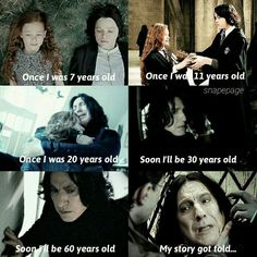To go this long without ever being loved back by Lily the way he loved her. Harry Potter Severus Snape, Severus Rogue, Harry Potter Feels, Draco Harry Potter, Harry Potter Universal, Harry Potter Characters, Harry Potter World, Hermione Granger, Hogwarts