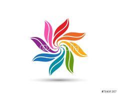 Vector: Flower Leaf Logo