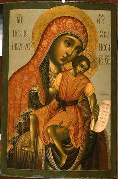 Тихон Иванов Филатьев (?). Киккская икона Богородицы. Из церкви Рождества Богородицы в Голутвине (1691-1692). ГИМ