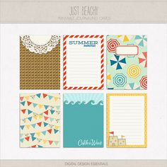 journaling cards | Home > Products > Just Beachy Journaling Cards