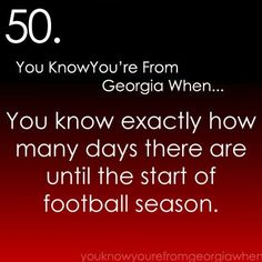 You know you're from Georgia when....