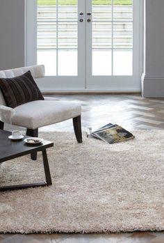 Teppich Hochflor Langflor Shaggy Fußbodenteppich DIVA RUG Sand Beige A100208