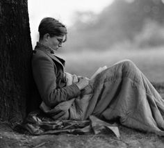 Colin Wilson reading on Hampstead Heath in 1956.