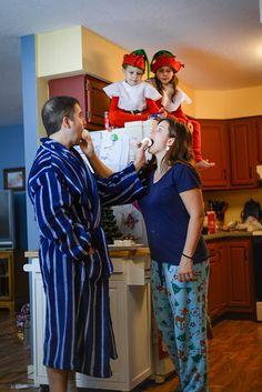 Elf on the shelf theme family Christmas card photos by BackForty
