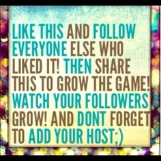 Share Group Please SHARE !! Please help me get more followers with The followers game .... Add Me , like this post , follow all who liked and share this ... Watch your followers grow always check back to follow new likers !!! Other
