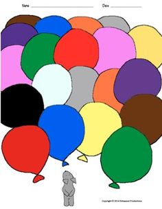 English, French and Spanish sheets to color and Pepper's colorful balloon sheet to name the colors in your target language.Decorate your classroom door or bulletin board with Pepper's balloon picture and Pepper's individual balloons printed on colored paper with students' names and photos.The documents are in PDF and Word so you can edit them!