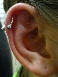 Upper Ear Cartilage Piercing Open Hoop Got One Of These But I Want A
