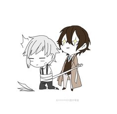 Bungou Stray Dogs Characters, Anime Characters, Anime Chibi, Kawaii Anime, Anime Flower, Dazai Osamu, Bongou Stray Dogs, Manga Love, Fan Art