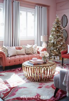 Rose and gold Christmas decor