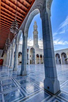 Sultan Qaboos grand mosque .Oman