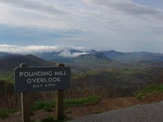 Pounding Mill Overlook at milepost 413 on the Blue Ridge Parkway.